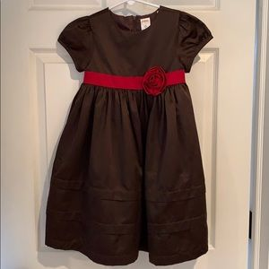 Gymboree Dresses - Girls brown satin dress